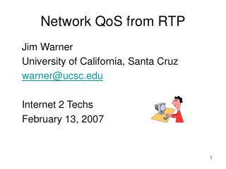 Network QoS from RTP