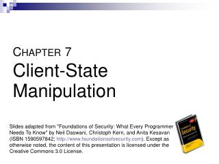 C HAPTER 7 Client-State Manipulation