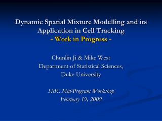 Dynamic Spatial Mixture Modelling and its Application in Cell Tracking - Work in Progress -