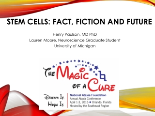 STEM CELLS: FACT, FICTION AND FUTURE