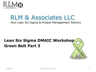 RLM & Associates LLC Your Lean Six Sigma & Project Management Trainers