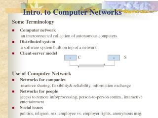 Intro. to Computer Networks
