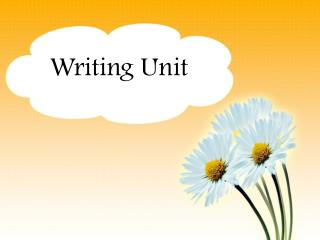 Writing Unit