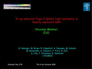 X-ray selected Type-2 QSOs: high luminosity in heavily obscured AGN