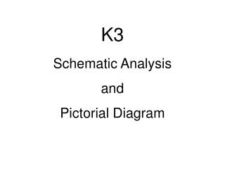 K3 Schematic Analysis and  Pictorial Diagram