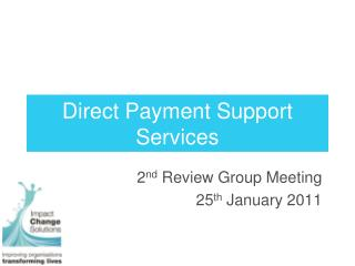 Direct Payment Support Services