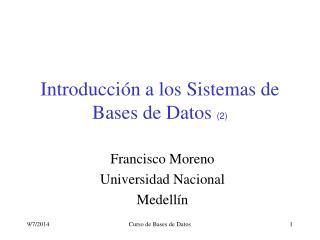 Introducción a los Sistemas de Bases de Datos  (2)