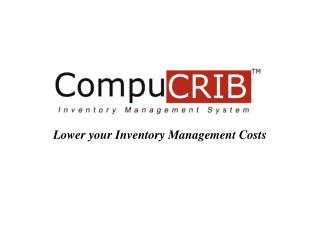 Lower your Inventory Management Costs