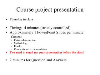 Course project presentation