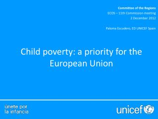 Child poverty: a priority for the European Union