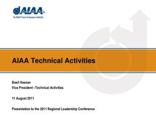 AIAA Technical Activities