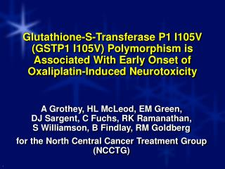 Oxaliplatin-Induced Neurotoxicity