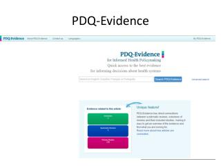 PDQ- Evidence
