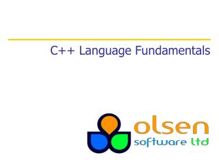 C++ Language Fundamentals