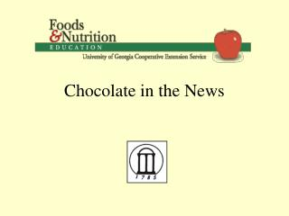 Chocolate in the News