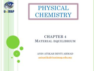 CHAPTER 4 Material equilibrium