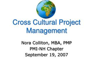 Cross Cultural Project Management