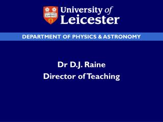 DEPARTMENT OF PHYSICS & ASTRONOMY