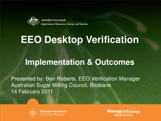 EEO Desktop Verification Implementation & Outcomes