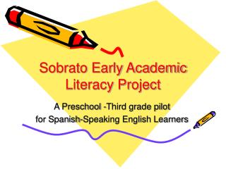 Sobrato Early Academic Literacy Project