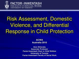 Risk Assessment, Domestic Violence, and Differential Response in Child Protection