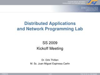 Distributed Applications and Network Programming Lab
