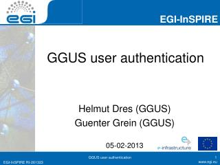 GGUS user authentication