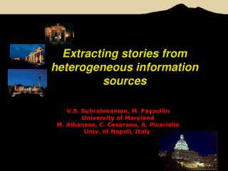 Extracting stories from heterogeneous information sources