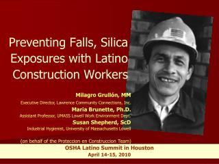 Preventing Falls, Silica Exposures with Latino Construction Workers