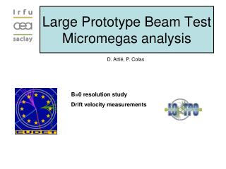 Large Prototype Beam Test Micromegas analysis