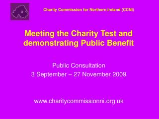 Meeting the Charity Test and demonstrating Public Benefit
