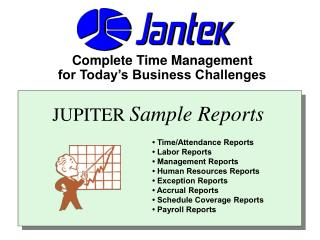 JUPITER Sample Reports