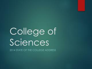 College of Sciences
