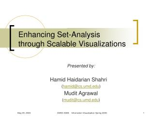 Enhancing Set-Analysis  through Scalable Visualizations