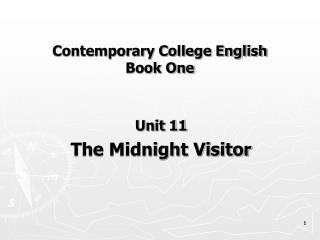 Contemporary College English Book One