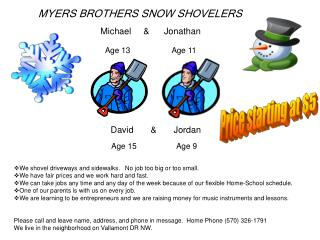 MYERS BROTHERS SNOW SHOVELERS