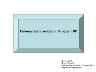Defense Standardization Program 101