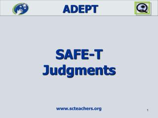 SAFE-T Judgments