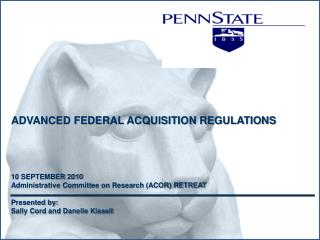 ADVANCED FEDERAL ACQUISITION REGULATIONS