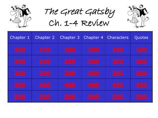 The Great Gatsby Ch. 1-4 Review