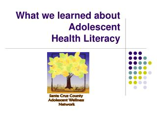 What we learned about Adolescent  Health Literacy