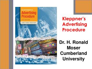 Dr. H. Ronald Moser                               Cumberland University