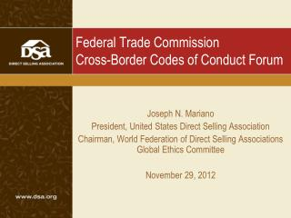 Federal Trade Commission Cross-Border Codes of Conduct Forum