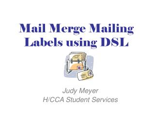 Mail Merge Mailing Labels using DSL