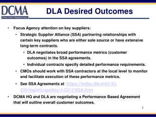 DLA Desired Outcomes