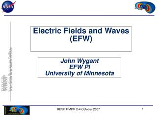 Electric Fields and Waves (EFW)