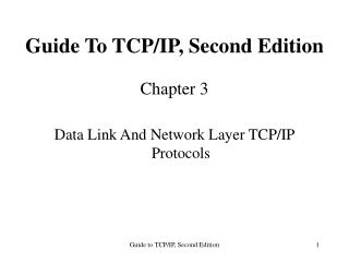 Guide To TCP/IP, Second Edition