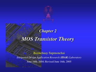 Chapter 2 MOS Transistor Theory