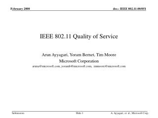 IEEE 802.11 Quality of Service