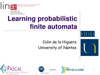 Learning probabilistic finite automata